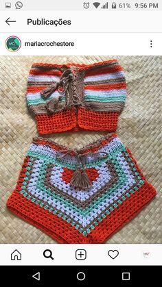 Crotchet, Crochet Projects, Crochet Bikini, Sewing Crafts, Beachwear, Crochet Hats, How To Wear, Fashion, Crochet Basket Pattern