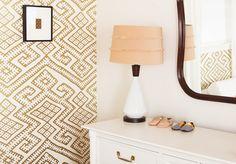 BRADLEY │Relativity Textiles - 'Kilim Gold' featured on Project Nursery blog in June 2015. Chicago, IL (Designer/Homeowner Allison Reimus) photo credit Maurene Cooper. #bradleyusa