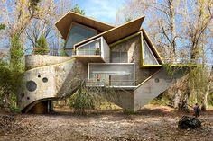 """Doğa Ve Mimarlık Etkileşimi: İspanyol sanatçı Dionisio Gonzáles'in yeni mimari illüstrasyon serisi """"Trans-actions"""" yayınlandı. Kent dokusu içindeki bozulmuş strüktürel kurguları konu edinen sanatçı, yaşanabilir ve sürdürülebilir yeni mimarlık sistemleri öneriyor."""