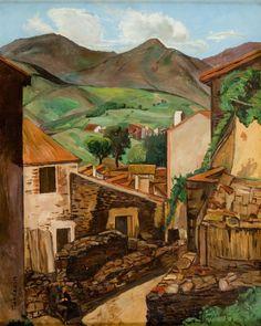 Szymon (Szamaj) Mondzain (Mondszajn) - Uliczka w górskim miasteczku, 1924 r.