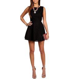 Black Lace Sleeveless Party Dress