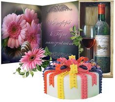 Narozeninové přáníčko otevřené   Tvoření Birthday Cake, Table Decorations, Plants, Humor, Home Decor, Homemade Home Decor, Birthday Cakes, Humour, Flora