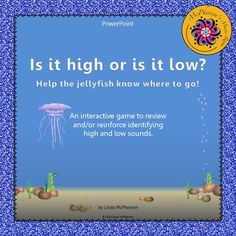 Your students will love watching the jellyfish move high or low on the page when they select the correct answer in this student interactive game!  They will be begging to play again and again!