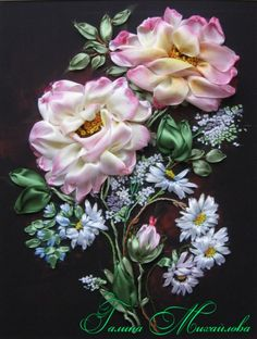 Gallery.ru / grinalda de rosas - Borde Com Amor - Mihailova-Galya
