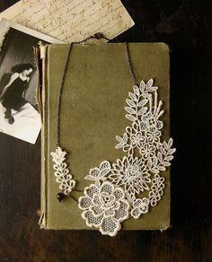 lace necklace.