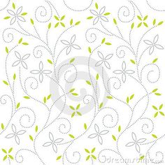 Swirl floral seamless pattern