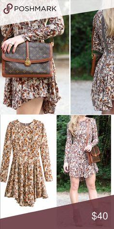Selling this H&M Floral Patterned Long Sleeve Dress on Poshmark! My username is: infinitelyposh. #shopmycloset #poshmark #fashion #shopping #style #forsale #H&M #Dresses & Skirts
