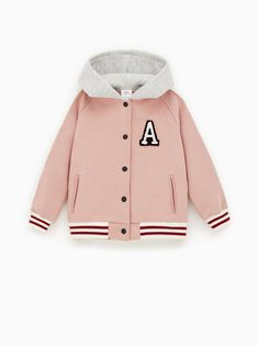 Girls' Sweatshirts | New Collection Online | ZARA United States Girls Bomber Jacket, Hooded Bomber Jacket, Big Girl Fashion, Kids Fashion, Vestidos Minnie, Sweater Outfits, Fall Outfits, Pijamas Women, Outfits