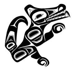 Northwest Native Artwork - Wolf simple design