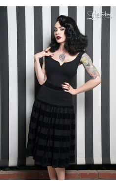 Pinup Girl Clothing- Rita Dress in Black | Pinup Girl Clothing