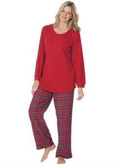Women's Plus Size Thermal & flannel pajamas | Flannels, Clothing ...