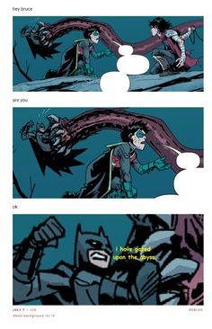 I laughed when I first read the comic. I asked the same thing. Im Batman, Batman Robin, Comic Book Heroes, Comic Books, Batman Quotes, Bat Boys, Dc Memes, Batman Family, Dc Characters