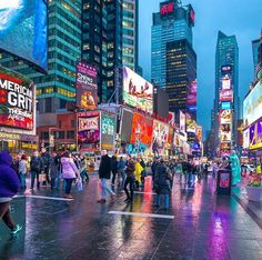 Times Square during the 'blue hour.'
