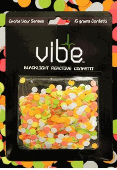 Blacklight Reactive Confetti!-- Click to Enlarge--