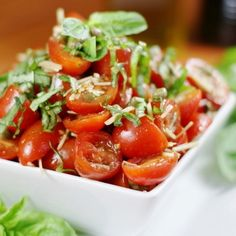 Grape Tomato and Capers Salad