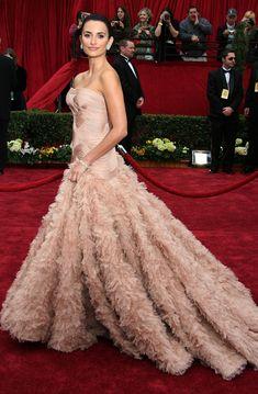 Penelope Cruz de Versace no Oscar de 2007