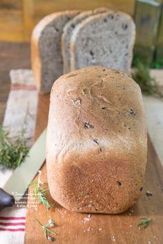 Kalamata, Rosemary & Olive Oil Bread recipe - TeenieCakes.com