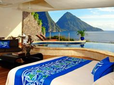 "Jade Mountain St. Lucia's boutique Kai en Ciel Spa is a ""rare jewel"" that features a diverse menu of both classic and Ayurvedic spa rituals. Visitors can receive body, beauty, and couples spa services in their room, the resort's boutique spa, or the Kai Mer spa cottage, which overlooks the Anse Chastanet Reef. Complimentary seaside yoga classes and guided hikes of the 600-acre estate round out the relaxation for an experience ""beyond words."" More on spas:Top 25 Spas in the U.S. Healthy Spa…"