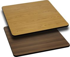 30'' Square Table Top with Reversible Natural or Walnut Laminate Top, BFDH-3030NATWALSQ-TDR | RestaurantFurniture4Less.com
