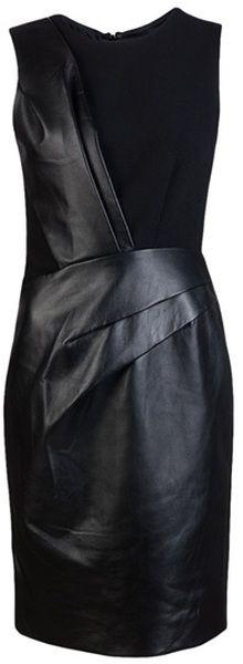 J MENDAL Leather Piece Dress