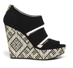 Patterned platform wedge from Sole Society