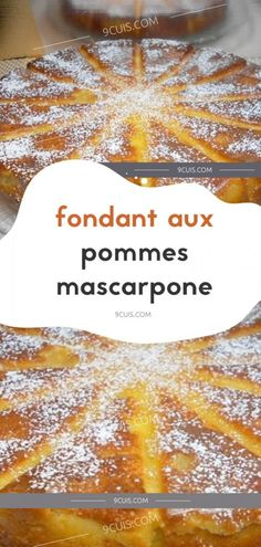 fondant aux pommes mascarpone…. Desserts With Biscuits, No Bake Desserts, Easy Desserts, Chefs, Flan Dessert, Cooking Time, Cooking Recipes, Thermomix Desserts, Coco