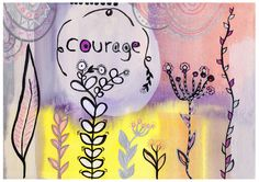 """Fine Art Print - Giclee Art Print - Giclee print - Print of the original Mixed Media painting """"Courage""""   - pinned by pin4etsy.com"""
