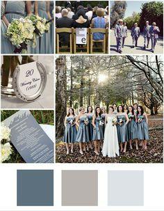 blue gray wedding