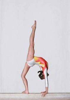 .I miss gymnastics. I think I would rip every muscle in my body if I tried that now.