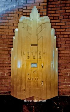 Art Deco Mailbox, Western Union Building, NYC - @~ Mlle