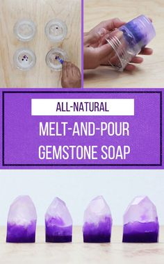 This beautiful gemstone soap is great for gifts (or to keep all to yourself)!