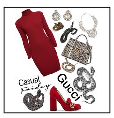 """""""Gucci 🐍"""" by girlsbossbio on Polyvore featuring Rumour London, Eye Candy, Gucci and Cathy Waterman"""