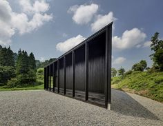 Australian architect Andrew Burns completed this pointy gallery and studio for artists-in-residence in Japan.