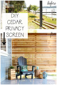 Craving a cozy, private patio space? Learn how to build a DIY cedar privacy scre… Craving a cozy, private patio space? Learn how to build.