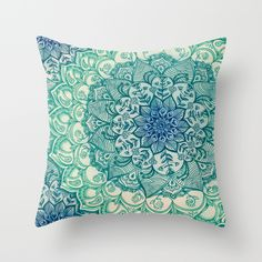 Buy Emerald Doodle Throw Pillow by micklyn. Worldwide shipping available at Society6.com. Just one of millions of high quality products available.