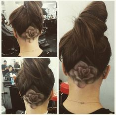 I like the hairline on this one. Feeling Rosy ❤️ Cut By @alex_qualitycuts #UCFeed #BuzzCutFeed #Undercut #Undercuts #ShavedNape #NapeShave #BarberArt #Rose #UndercutNation
