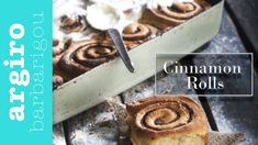 Ρολάκια κανέλας (Cinnamon rolls) • Keep Cooking by Argiro Barbarigou - YouTube Actifry, Bread Rolls, Greek Recipes, Cinnamon Rolls, Biscuits, Cooking Recipes, Sweets, Cookies, Breakfast