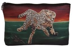 Cheetah Cosmetic Bag by Salvador Kitti  On Sale by SalvadorKitti, $14.98