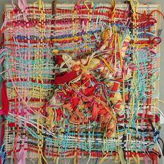 Kjmrarely (@kjmrarely) Weaving Fiber Art, Contemporary Art, Abstract Art, Weaving, Textiles, Painting, Instagram, Closure Weave, String Art