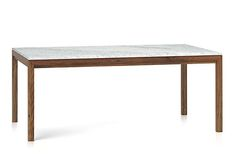 Marble Topped Dining Table Crate Barrel | Remodelista
