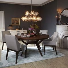 Arc Base Pedestal Table If you want to keep a round dining table, go with the Round Dinning Table, Dinning Table Design, Dinning Room Tables, Pedestal Dining Table, Modern Dining Table, Dining Room Furniture, Room Chairs, Round Tables, Dining Table Chandelier