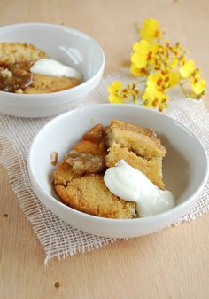 Banana butterscotch pudding / Sobremesa de banana e caramelo by Patricia Scarpin, via Flickr
