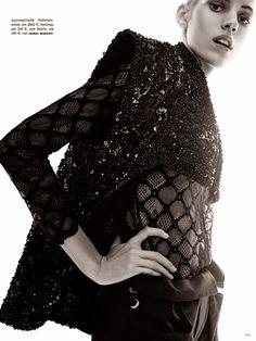 Devon Windsor for Vogue Germany May 2014