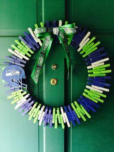 Seattle+Seahawks+Wreath+by+RexFamilyShop+on+Etsy
