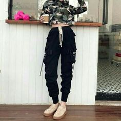 The Best Street Style Fashion Ideas Of The Year - Page 20 of 46 - bestcombin Teen Fashion Outfits, Edgy Outfits, Korean Outfits, Mode Outfits, Grunge Outfits, Dance Outfits, Cute Casual Outfits, Girl Outfits, Jogger Outfit