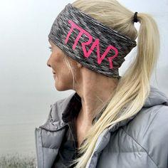 Grey melange & Pink pannebånd / panneband / headband / pannband