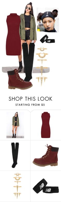 """Workboots"" by p0llyinurpocket ❤ liked on Polyvore featuring Ambiance, Aéropostale, Luv Aj and New Balance"