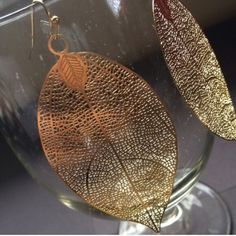 Metal leaf earrings Measures 1.6 w by 3.5 l and has a fish hook back. Poshmark transaction only. Smoke free, cat friendly home. Farah jewelry Jewelry Earrings