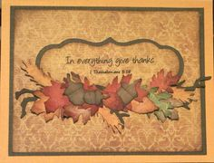 In everything give thanks - Scrapbook.com