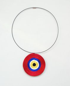 Evil Eye pendant nazar necklace red necklace by elfinadesign